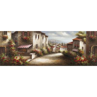 "Yosemite Home Decor 21.5 in. x 61 in. ""European Village II"" Hand Painted Contemporary Artwork"