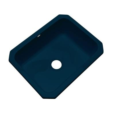 Inverness Undermount Acrylic 25 in. Single Bowl Kitchen Sink in Navy