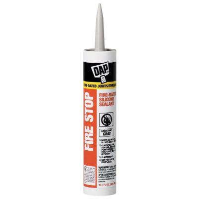 dap fire stop 10 1 oz fire rated silicone sealant 18806 the home depot. Black Bedroom Furniture Sets. Home Design Ideas