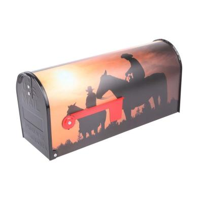 Post Mount Home on the Range Mailbox Product Photo