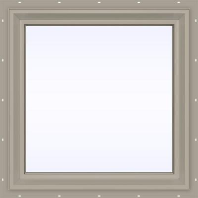 23.5 in. x 23.5 in. V-2500 Series Fixed Picture Vinyl Window - Tan Product Photo