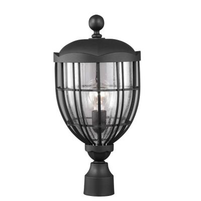 Feiss River North Collection 1-Light Textured Black Outdoor Post Light