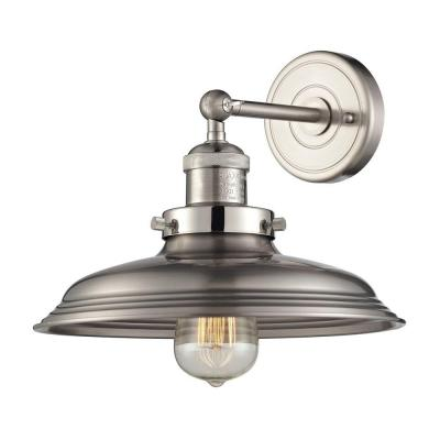 Port Lincoln Collection 1-Light Satin Nickel Sconce