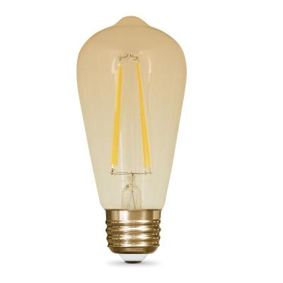 Vintage Style 60W Equivalent Soft White ST19 Dimmable LED Light Bulb
