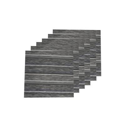 Multistripes Woven Textilene Reversible Square Placemats (Set of 6)