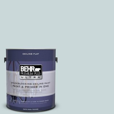BEHR Premium Plus Ultra 1-Gal. No.UL220-10 Ceiling Tinted to Offshore Mist Interior Paint
