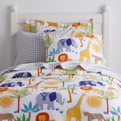 Jungle Animals Organic Cotton Percale Duvet Cover