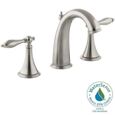 Finial Traditional 8 in. Widespread 2-Handle Bathroom Faucet with Lever Handles