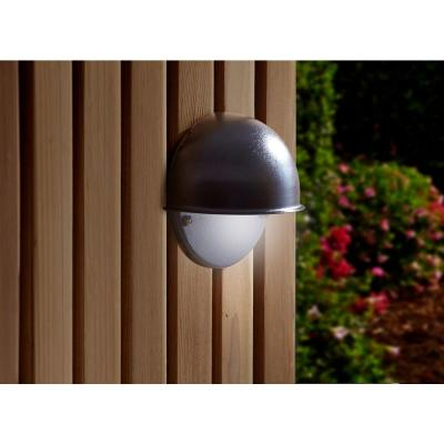 Moonrays Low-Voltage 7-Watt Black Outdoor Metal Flushmount Circular Surface Light