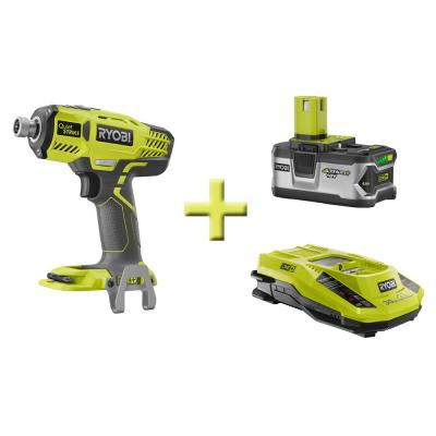 Ryobi ONE+ Combo Kit 1/4 in. Quiet Strike Pulse Driver + Dual Chemistry IntelliPort Charger + High Capacity Lithium+ Battery