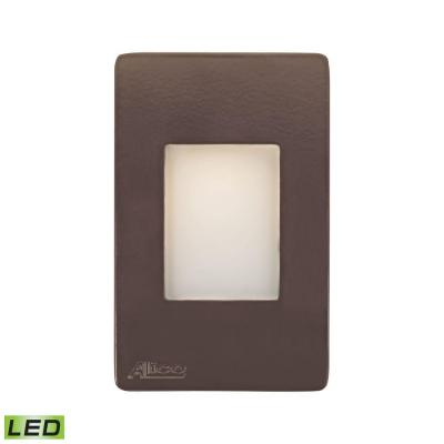 Beacon 3.3-Watt Brown LED Step Light with Opal Lens