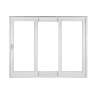 Simonton white 3 panel french rail sliding patio door with for Home hardware patio doors