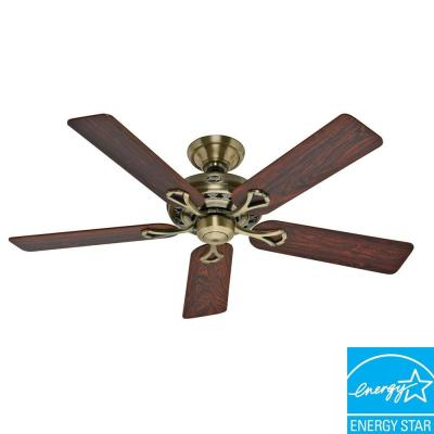 Hunter Savoy 52 in. Antique Brass Ceiling...