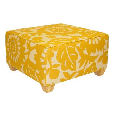 Home Decorators Collection Georgetown Square Sungold Cocktail Ottoman