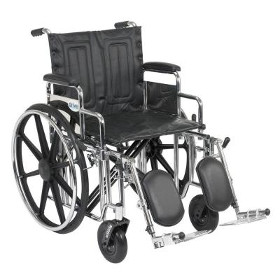 Sentra Extra Heavy Duty Wheelchair with Detachable Desk Arms and Elevating