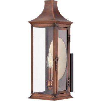 Filament Design Monroe 1-Light Outdoor Aged Copper Incandescent Wall Lantern