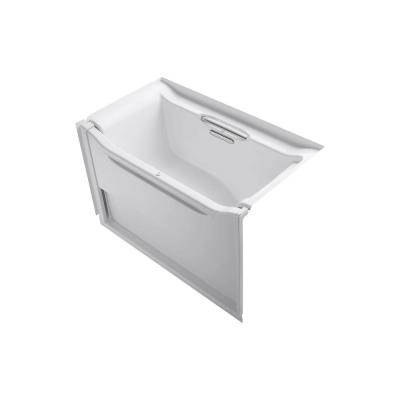 Elevance 5 ft. Acrylic Right Drain Rectangle Alcove Non-Whirlpool Bathtub in White Product Photo