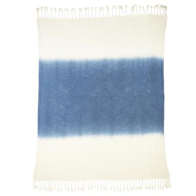 Shibori Ombre Slub 50 in. x 60 in. Throw Blanket