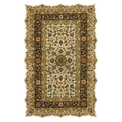 Masterpiece Beige and Black 7 ft. 6 in. x 9 ft.
