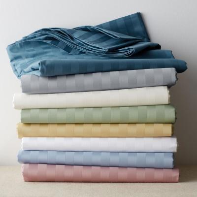 Classic Stripe 350-Thread Count Sateen Sheet Set