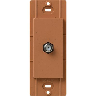 Lutron Satin Colors Coaxial Cable Jack - Terracotta