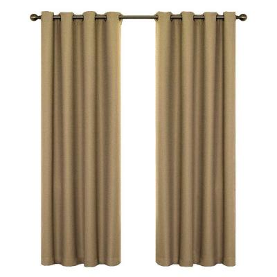Wyndham Blackout Latte Curtain Panel, 63 in. Length