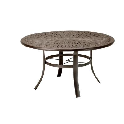 Tradewinds 42 in. Java Cast Aluminum Commercial Patio Dining Table