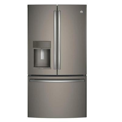 35.75 in. W 22.2 cu. ft. French Door Refrigerator with Hands