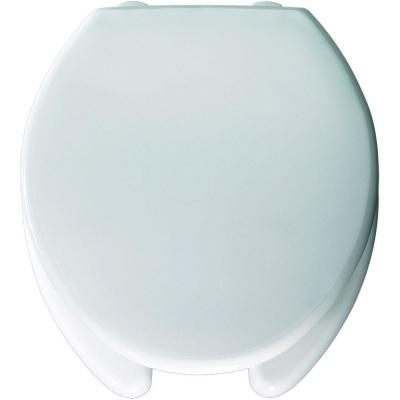 Medic-Aid STA-TITE Round Open Front Toilet Seat in White Product Photo