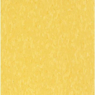 Imperial Texture VCT Lemon Yellow Standard Excelon Commercial Vinyl Tile - 6 in. x 6 in. Take Home Sample Product Photo