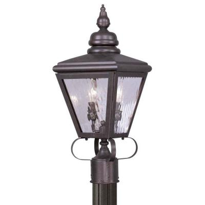 Providence 2-Light Outdoor Bronze Incandescent Post Lantern Product Photo