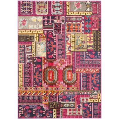 Monaco Pink/Multi 4 ft. x 5 ft. 7 in. Area Rug