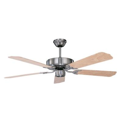 California Home Series 52 in. Indoor Stainless Steel Ceiling Fan