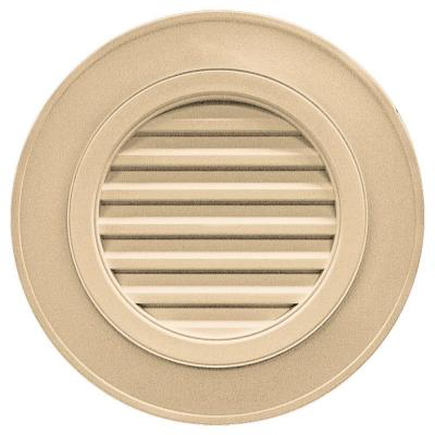 28 in. Round Gable Vent #045 Sandstone Maple (without Keystones) Product Photo