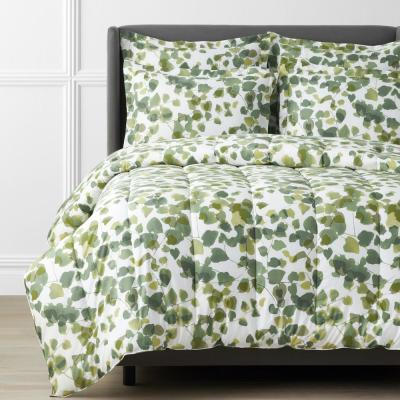 Legends Hotel Greenery Cotton and TENCEL Lyocell Multicolored Sateen Comforter