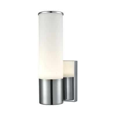 Maxfield 1-Light Chrome and Opal Glass LED Wall Sconce
