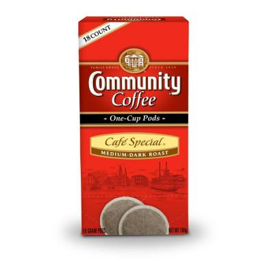 Community Coffee Cafe Special Single Cup Coffee Pods, 18-count-DISCONTINUED
