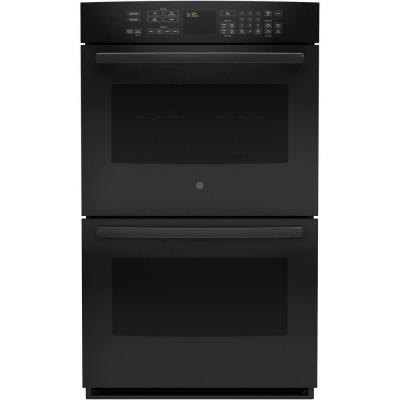 Profile 30 in. Double Electric Wall Oven Self-Cleaning with Convection in Black