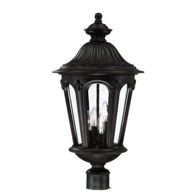 Acclaim Lighting Marietta Collection Post-Mount 4-Light Outdoor Black Coral Light Fixture