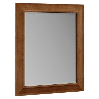 Stirling 29 in. W x 35-1/4 in. H x 1 in. D Single Framed Mirror in Almond Product Photo
