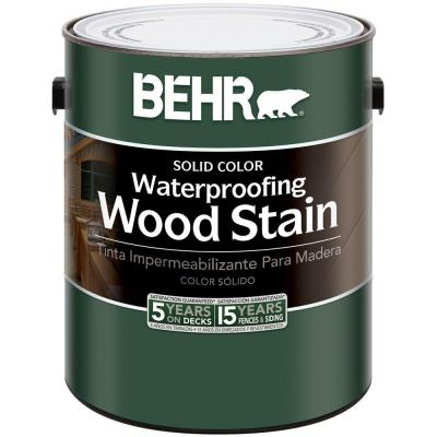 BEHR 1-Gal. White Base Waterproofing Wood Stain