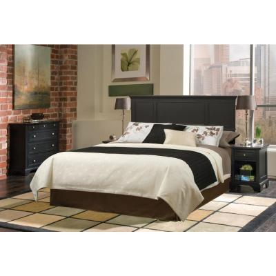 Home Styles Bedford Black Queen-size Headboard