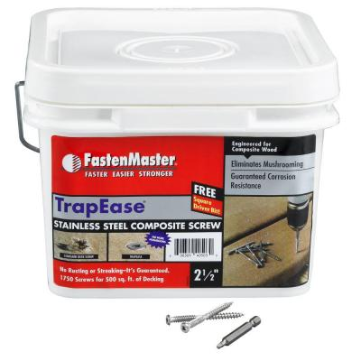 FastenMaster TrapEase 2-1/2 in. Composite Screw Stainless Steel - 1750 Pack-DISCONTINUED