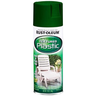 Rust-Oleum Specialty 12 oz. Forest Green Paint for Plastic Textured Spray Paint (Case of 6)