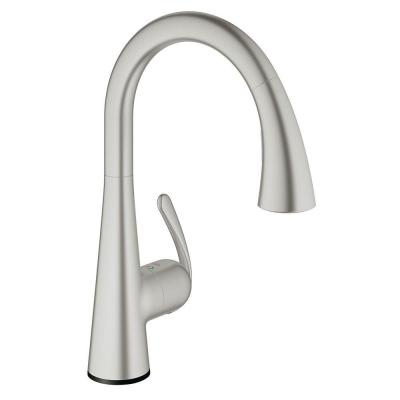 LadyLux3 Cafe Touch Single-Handle Kitchen Faucet in SuperSteel Infinity Product Photo