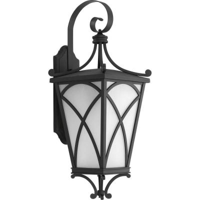 Cadence Collection 1-Light Black Wall Lantern Product Photo