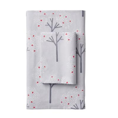 Snow Forest Flannel Pillowcase (Set of 2)