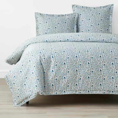 Company Cotton Alexandria Wrinkle-Free Bird Branch Sateen Duvet Cover