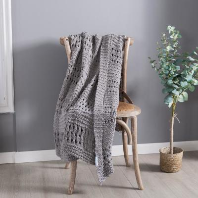 Crochet Cotton Throw Blanket