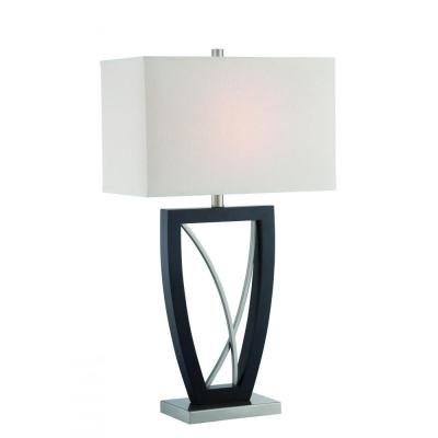 Filament Design 30 in. Polished Steel Table Lamp